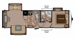2012 Keystone Copper Canyon 273FWRET Floorplan