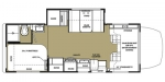 2015 Forest River Forester 2401S MBS Floorplan