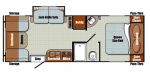 2019 Gulf Stream Vista Cruiser 23RSS Floorplan