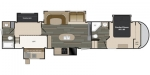 2016 Heartland Sundance SD 3700RLB Floorplan