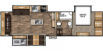2020 Coachmen Chaparral 298RLS Floorplan