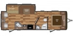 2018 Keystone Hideout (West) 26RLSWE Floorplan