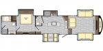 2020 CrossRoads Volante 5th Wheel VL3851FL High Profile Floorplan