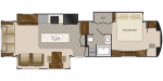 2020 DRV Elite Suites 36RSSB3 Floorplan