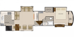 2020 DRV Elite Suites 41RKSB4 Floorplan