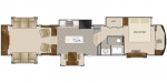 2020 DRV Mobile Suites 44 Columbus Floorplan
