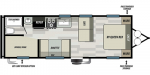 2020 Forest River EVO Factory Select 268BH Floorplan