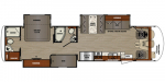 2020 Forest River Georgetown 5 Series GT5 36B5 Floorplan