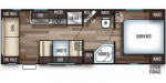 2019 Forest River Cherokee Grey Wolf 25RL Floorplan