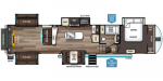 2020 Forest River Sabre 38RDP Floorplan