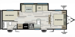 2020 Forest River Salem Cruise Lite West 263BHXL Floorplan