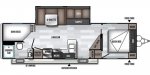 2019 Forest River Wildwood 26DBUD Floorplan
