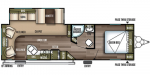 2019 Forest River Salem Northwest Edition 27RLSS Floorplan