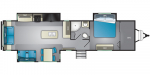 2020 Heartland Wilderness WD 3375 KL Floorplan