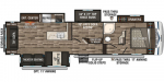 2019 KZ Sportsmen Fifth Wheel 344BH Floorplan