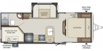 2020 Keystone Bullet (West) 243BHSWE Floorplan