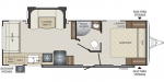 2021 Keystone Bullet (West) 257RSSWE Floorplan