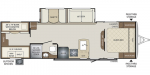 2020 Keystone Bullet (East) 287QBS Floorplan