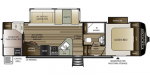 2020 Keystone Cougar Half-Ton (West) 29RDBWE Floorplan