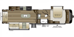 2020 Keystone Cougar (East) 361RLW Floorplan