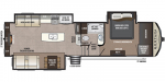 2020 Keystone Montana High Country 310RE Floorplan