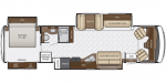 2019 Newmar Bay Star 3626 Floorplan