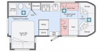 2020 Winnebago Fuse 23T Floorplan