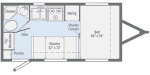 2020 Winnebago Micro Minnie 1706FB Floorplan