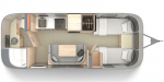 2020 Airstream Globetrotter 23FB Twin Floorplan