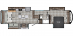 2020 CrossRoads Redwood RW3911RL Floorplan