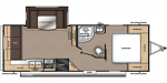 2020 Forest River Aurora 24RLS Floorplan