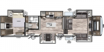 2020 Forest River Cardinal Limited 399FLLE Floorplan