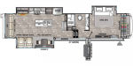 2020 Forest River Cedar Creek Champagne Edition 38EL Floorplan
