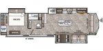 2020 Forest River Cedar Creek Cottage 40CCK Floorplan