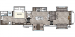 2020 Forest River Cedar Creek Silverback Edition 37FLB Floorplan