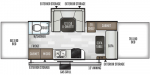 2020 Forest River Flagstaff High Wall Series HW29SC Floorplan