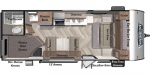 2020 Forest River Wildwood X-Lite 19DBXL Floorplan