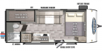 2020 Forest River Wildwood FSX Northwest 177BH Floorplan