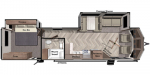 2020 Forest River Wildwood Lodge DLX 353FLFB Floorplan