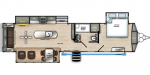 2020 Forest River Sierra Destination 393RL Floorplan