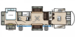 2020 Forest River Sandpiper 38FKOK Floorplan