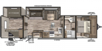 2020 Forest River Vibe 29BH Floorplan