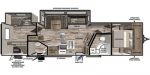 2020 Forest River Vibe 32BH Floorplan