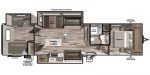 2020 Forest River Vibe 34BH Floorplan