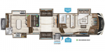 2020 Grand Design Solitude 390RK-R Floorplan