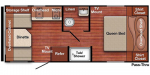 2020 Gulf Stream Kingsport Super Lite 19RD Floorplan