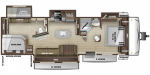 2020 Highland Ridge Open Range OT328BHS Floorplan