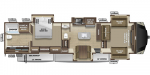 2020 Highland Ridge Silverstar SF373RBS Floorplan