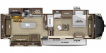 2020 Highland Ridge Open Range OF384RLS Floorplan