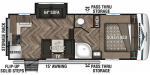 2020 KZ Sportsmen Fifth Wheel 231RK Floorplan